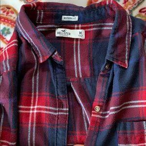 Boyfriend fit plaid shirt